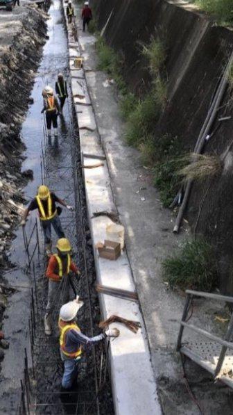 台中市加速綠川沿岸工程,預定今年底完成。圖/水利局提供