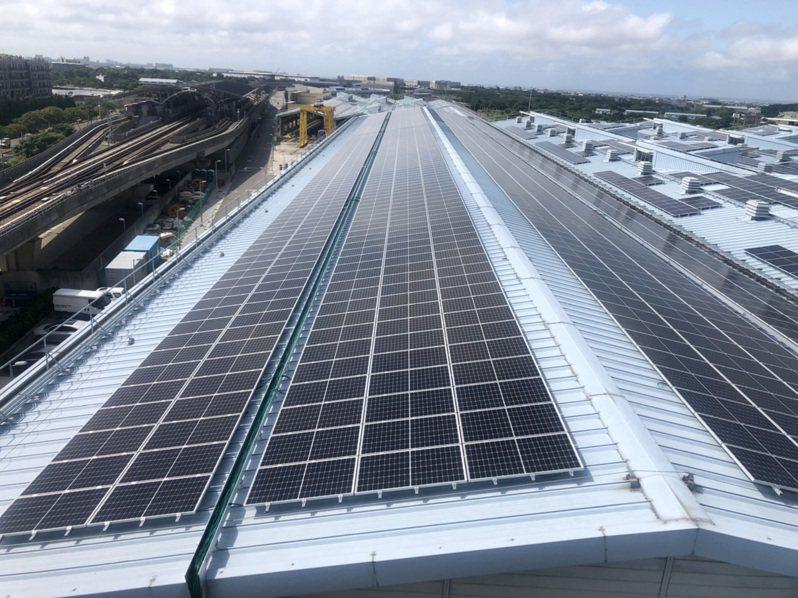 工廠屋頂太陽能發電還有很大潛力。圖/桃園市府經發局提供