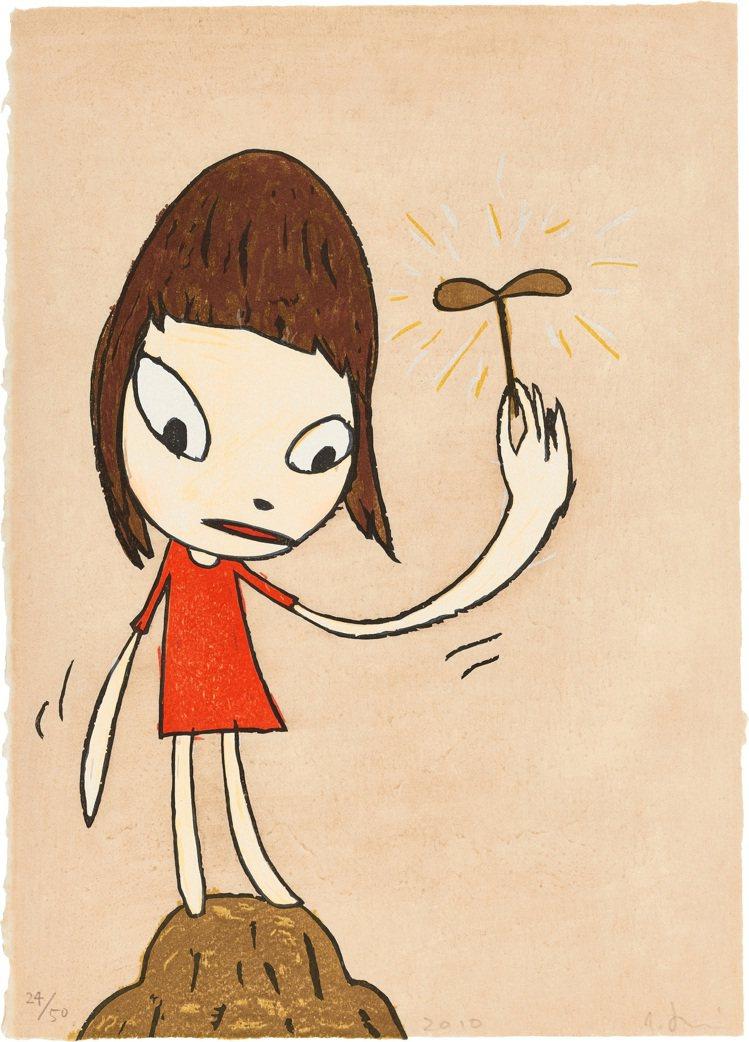 富藝斯「24/7」當代藝術網拍推出奈良美智「我的小寶貝」木刻版畫,估價10萬港元...