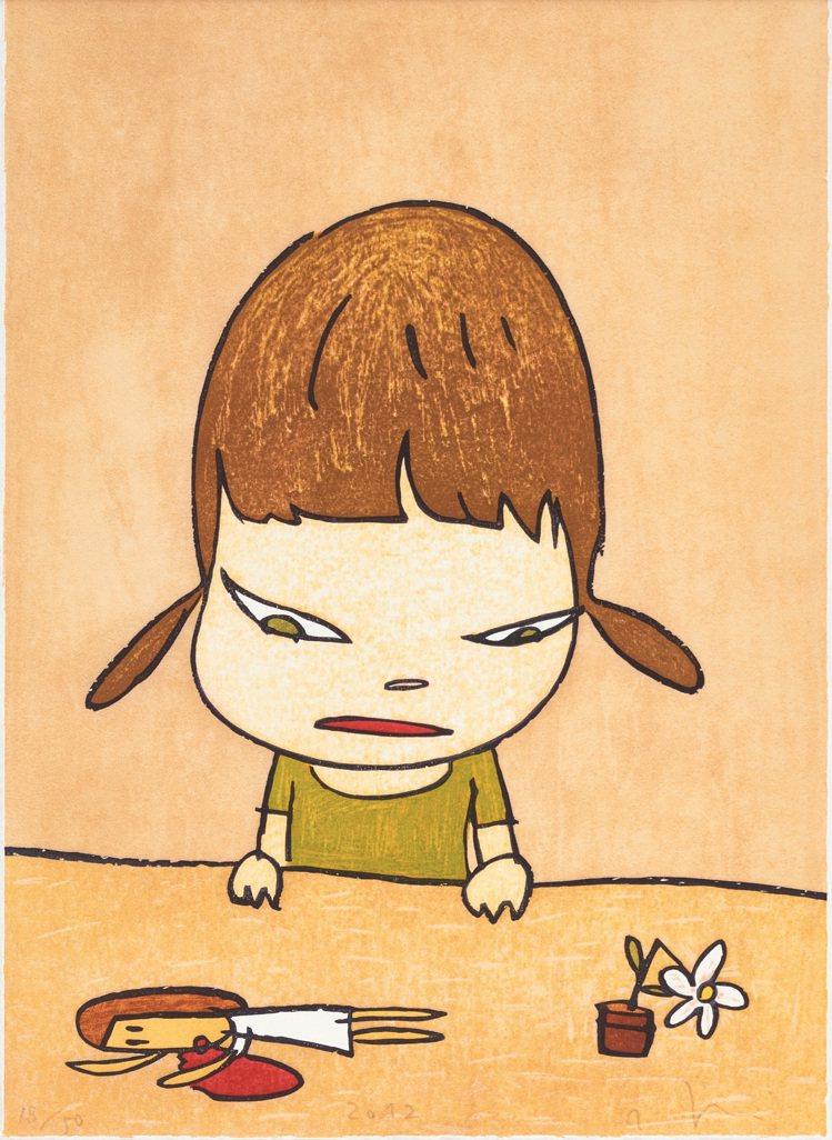 富藝斯「24/7」當代藝術網拍推出奈良美智「破碎的寶藏」木刻版畫,估價10萬港元...
