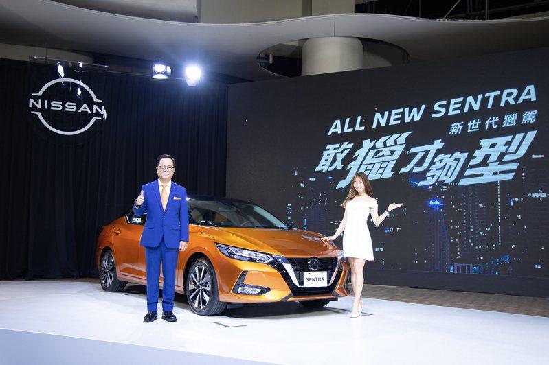 裕日車發表Sentra改款新車,預接單1,500台,超目標五成,左為總經理李振成。記者邱馨儀╱攝影