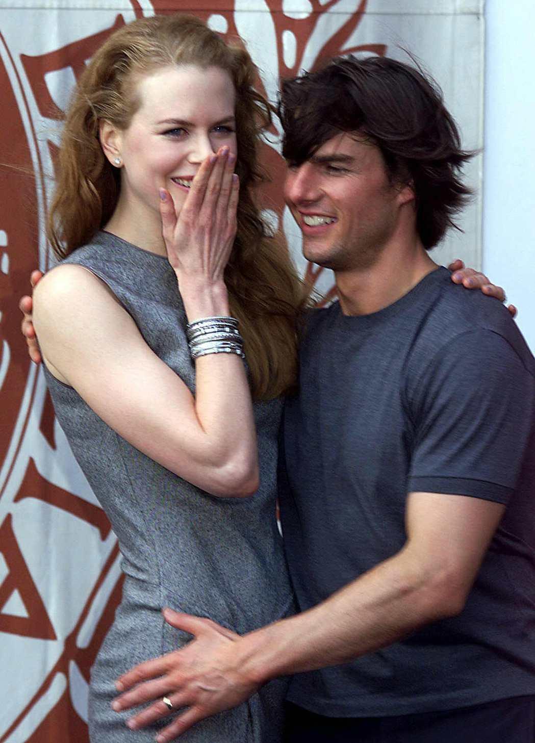 妮可基嫚(左)表示和湯姆克魯斯曾經度過非常甜蜜的婚姻時光。圖/路透資料照片