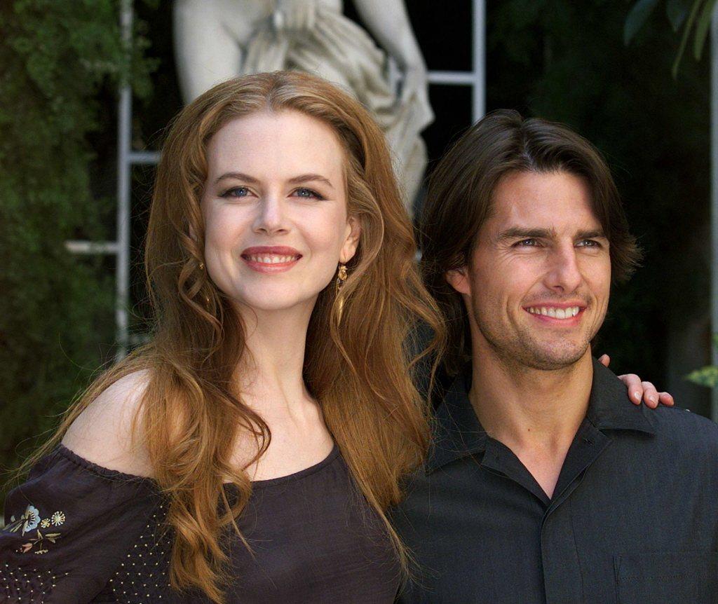 妮可基嫚(左)與湯姆克魯斯的婚姻,外界始終感到如霧裡看花。圖/路透資料照片