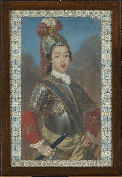 「清人油畫像」盛傳是乾隆宮廷畫師郎世寧所畫的香妃,但無強力的證據可證明。圖/故宮提供