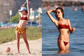 把海灘當維密大秀在走!算算超模Alessandra Ambrosio今年夏天去了海邊幾次?