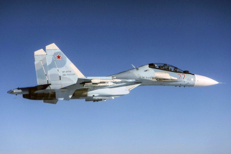 俄羅斯Su-30戰機。 圖/美聯社