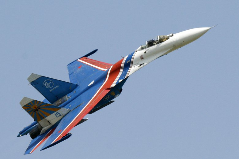 俄羅斯Su-27。 圖/美聯社