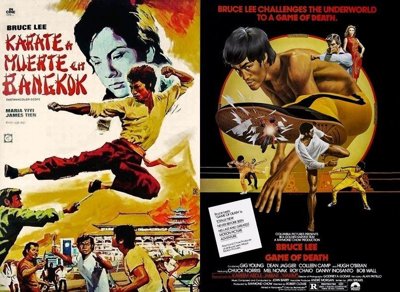 左:《唐山大兄》(1971)海報;右:《死亡遊戲》(1973)海報。 圖/IMDb