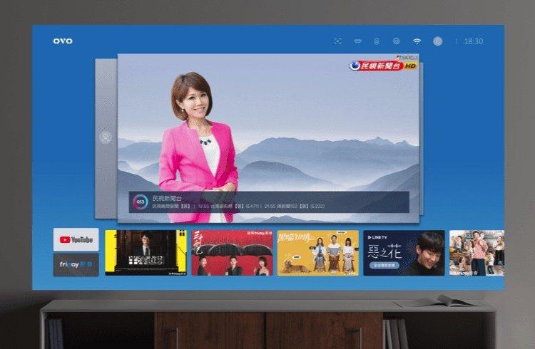 OVO TV OS 介面率先將串流電視頻道與 OTT 內容整合到同一個介面,開機...