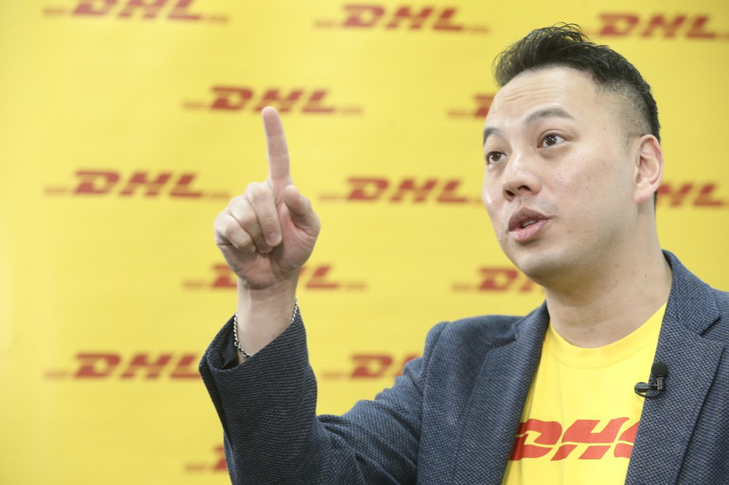 DHL Express台灣業務暨行銷企劃處副總裁郭峻豪。 記者林俊良/攝影