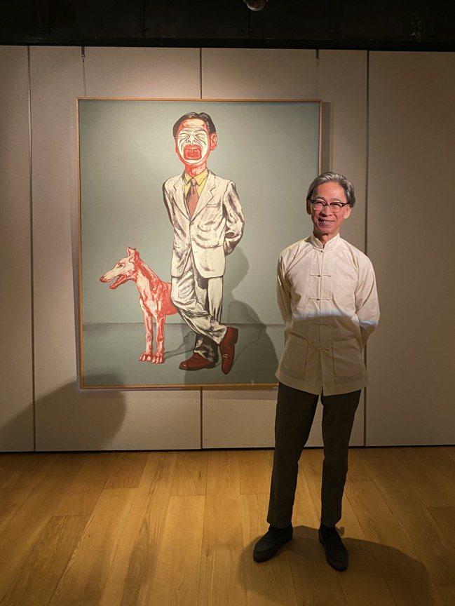 張頌仁與曾梵志的作品「面具系列11號」。圖/蘇富比提供