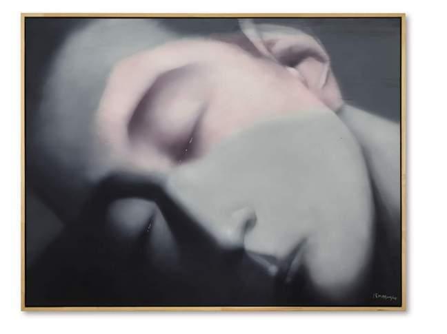 張曉剛「失憶與記憶:2008年1號」,2006-2008年作。圖/蘇富比提供