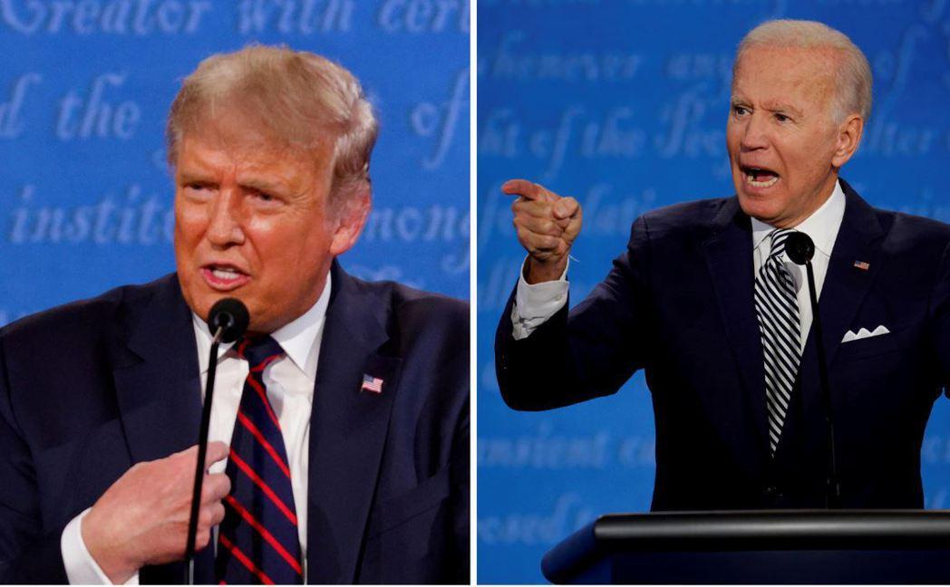 美國總統川普與民主黨總統候選人拜登。路透