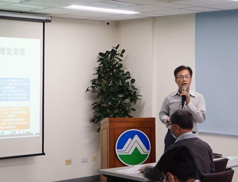 空氣品質保護及噪音管制處處長蔡孟裕表示,會根據不同季節的指標汙染物進行查核。(環保署提供)