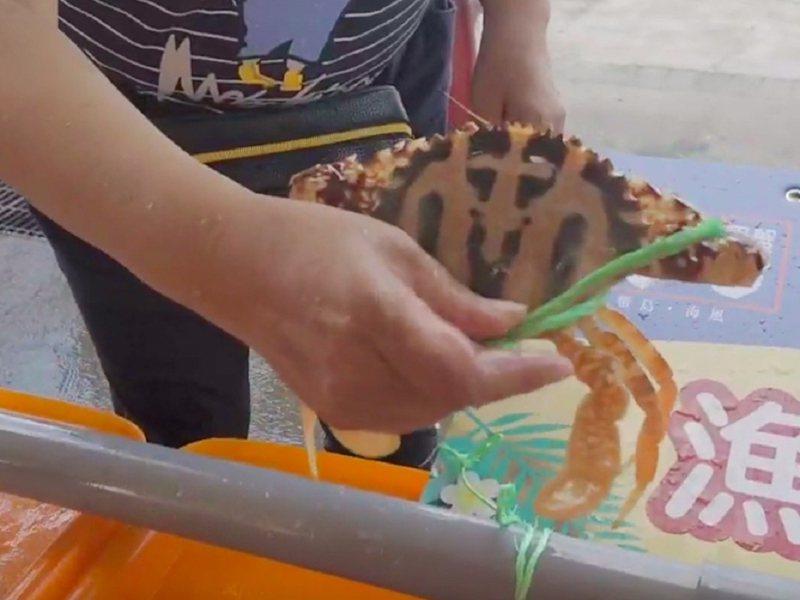 野柳漁港藍色公路舉辦「野柳假日活蟹市集」,剛卸貨下船的螃蟹活蹦亂跳,直接送到市集讓民眾選購,吸引不少饕客購買嚐鮮。 圖/紅樹林有線電視提供