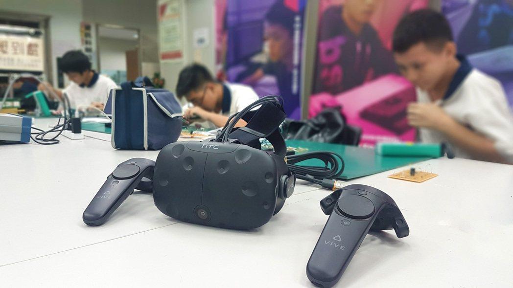 宏達電與新北高工合作,培育台灣XR遊戲人才。  宏達電/提供