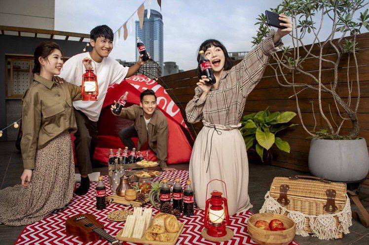可口可樂開蓋集點享三款多功能戶外用品,讓歡聚時刻不設限。圖/可口可樂公司提供