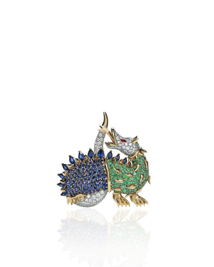 Tiffany Jean Schlumberger龍形設計總重逾10克拉藍寶石、...