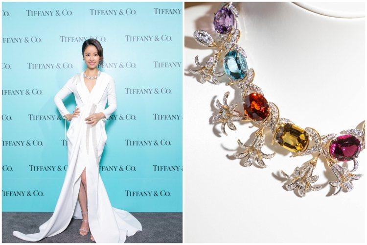林心如配戴價值上億的珠寶出席Tiffany Jean Schlumberger傳...