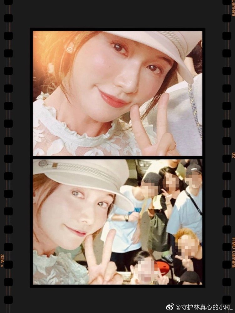 網路上流傳著林志玲的近照。 圖/擷自微博