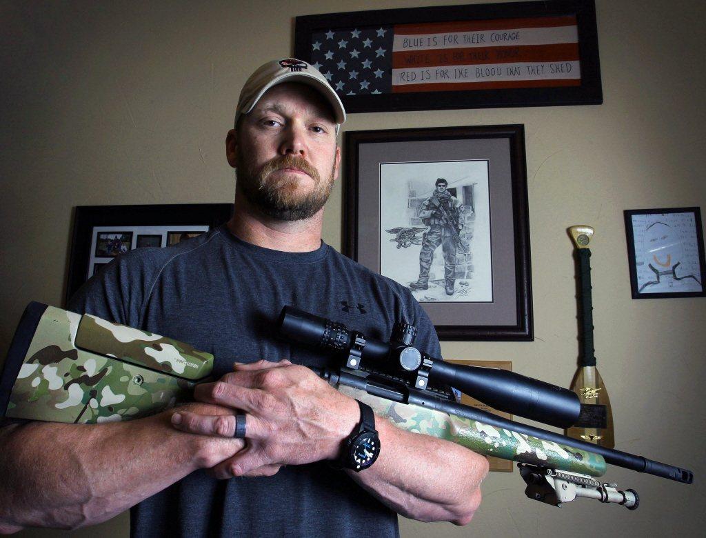 前美國海軍海豹部隊狙擊手克里斯·凱爾。 圖/美聯社