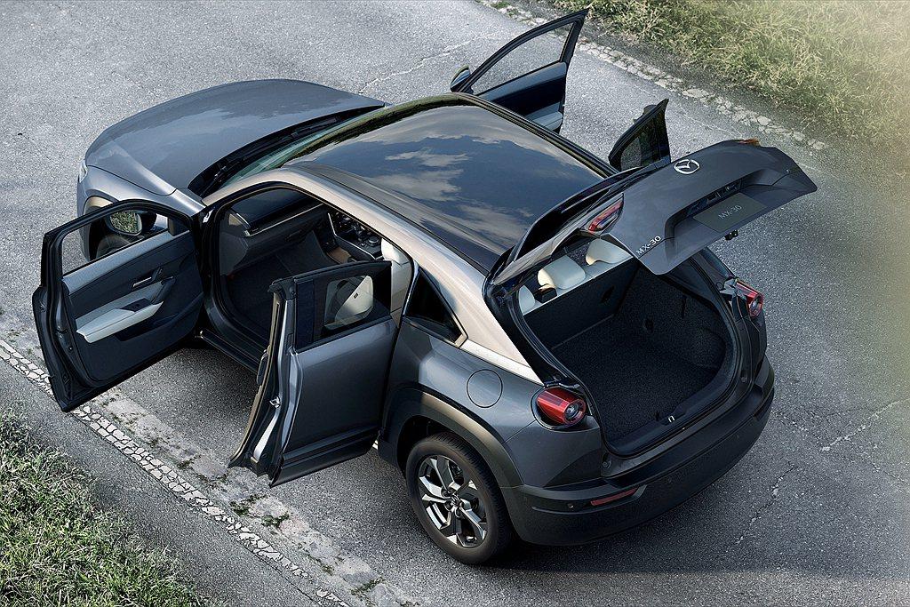 Mazda MX-30 e-SKYACTIV G基礎車型就配有MRCC雷達定速巡...