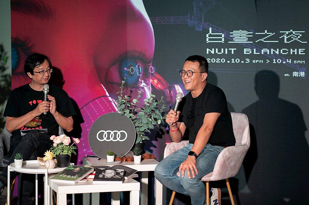 Audi e-tron成為白晝之夜的亮點作品以外,台灣奧迪也參與了白晝之夜活動中...