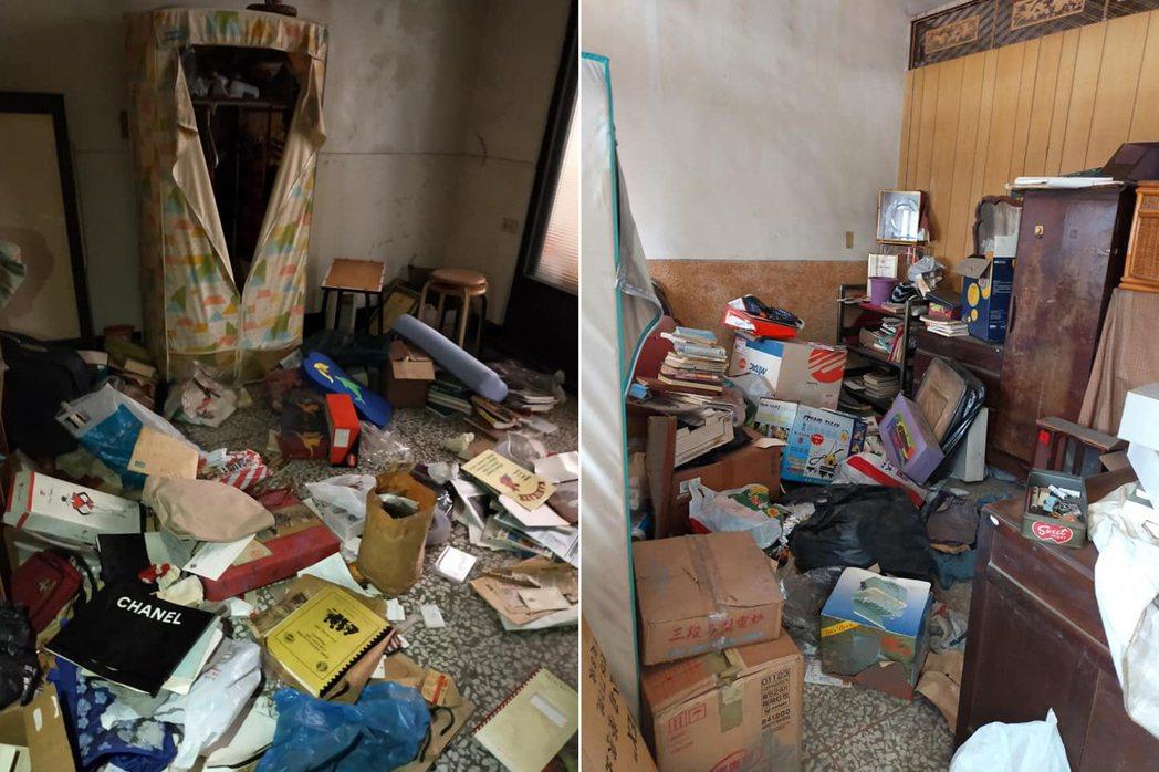 一名女網友在高雄買了一間中古屋,沒想到要交屋時發現賣家竟留了一大堆垃圾和破舊家具...