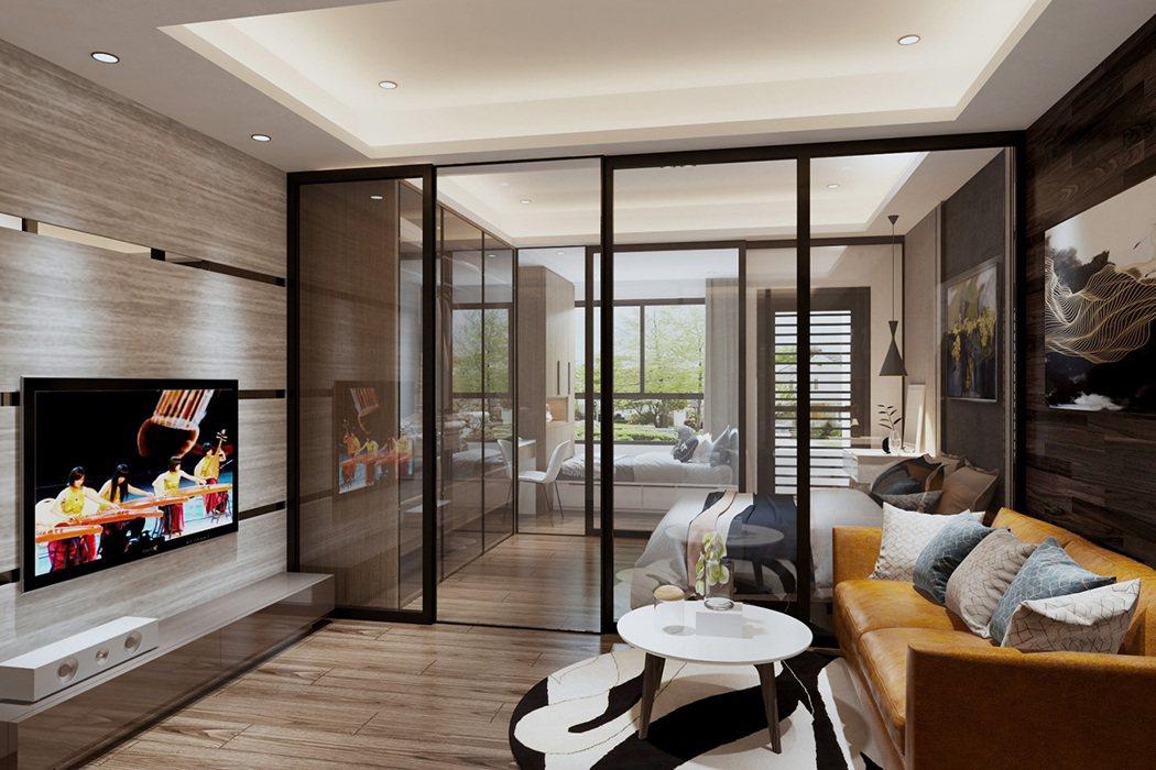 未來樹18坪2房裝潢效果圖。 圖/未來樹提供