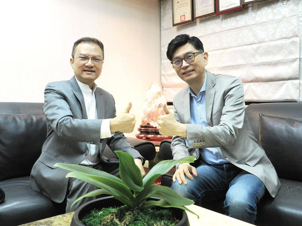 理財周刊發行人洪寶山(左)、趙光晨(右)