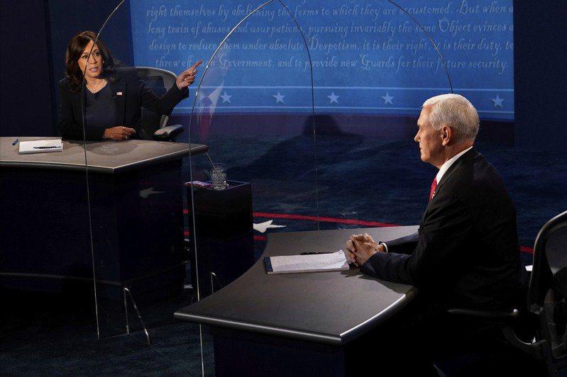 美國大選副總統辯論。美聯社