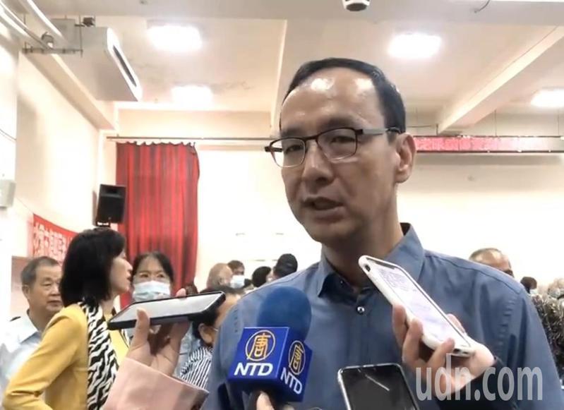 朱立倫認為台灣明天不必那麼多政治。記者鄭國樑/攝影