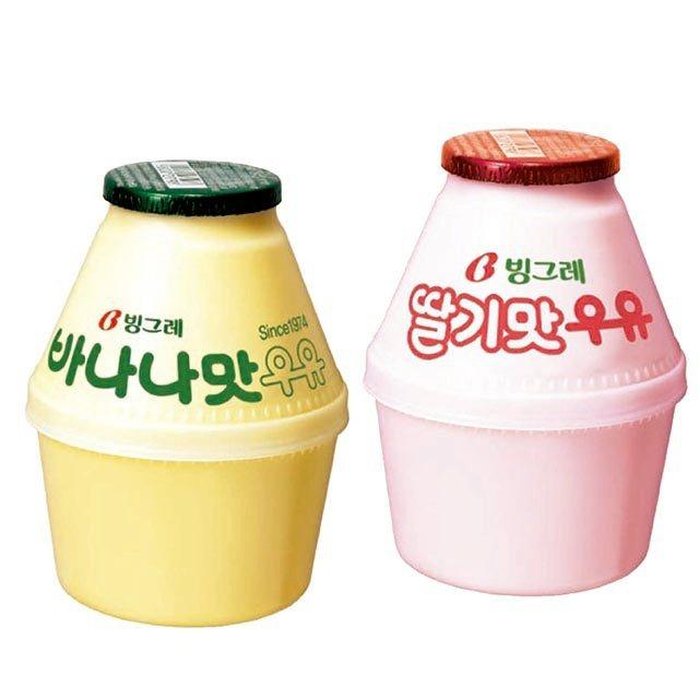10月15日至10月18日期間限定Binggrae香蕉牛奶/草莓牛奶(胖胖瓶)4...