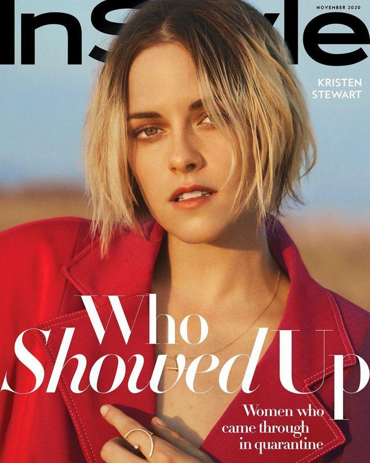 克莉絲汀史都華依舊是時尚界寵兒,登上最新雜誌封面。圖/摘自In Style