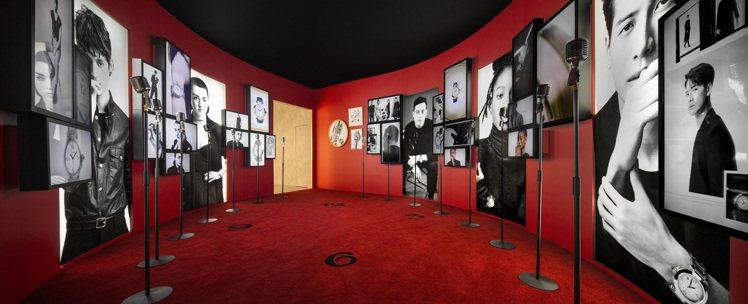 Pasha de Cartier 形象大使影音視聽體驗區。圖/卡地亞提供