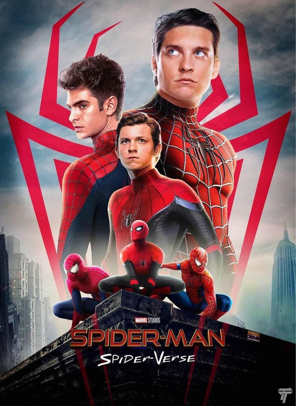 早先曾發布卻火速撤下的3代蜘蛛人合體假想海報。圖/摘自Instagram