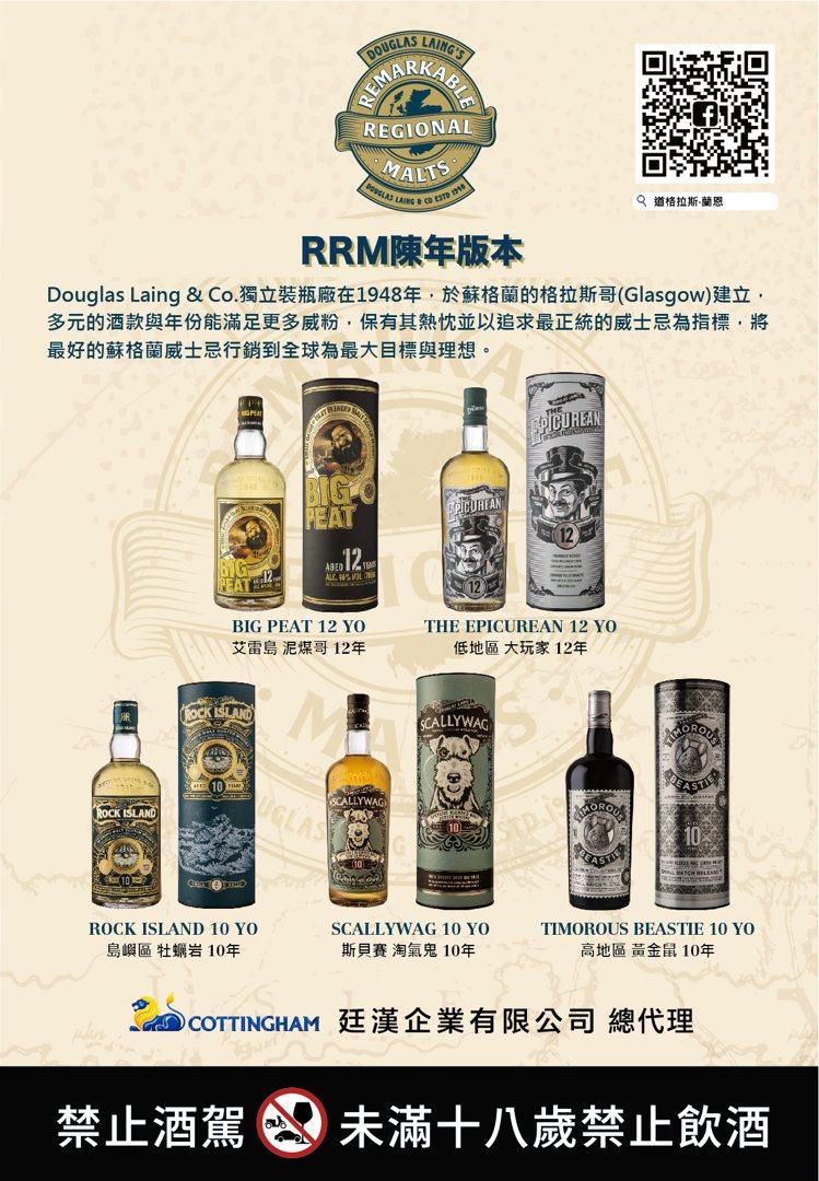 道格拉斯・蘭恩在新竹酒展舉辦台灣首場「RRM特色產區陳年威士忌系列」。圖/道格拉...