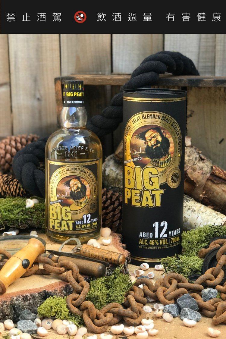 「泥煤哥12年」是該品牌首款有酒齡標示的常態性商品。圖/道格拉斯・蘭恩提供。提醒...