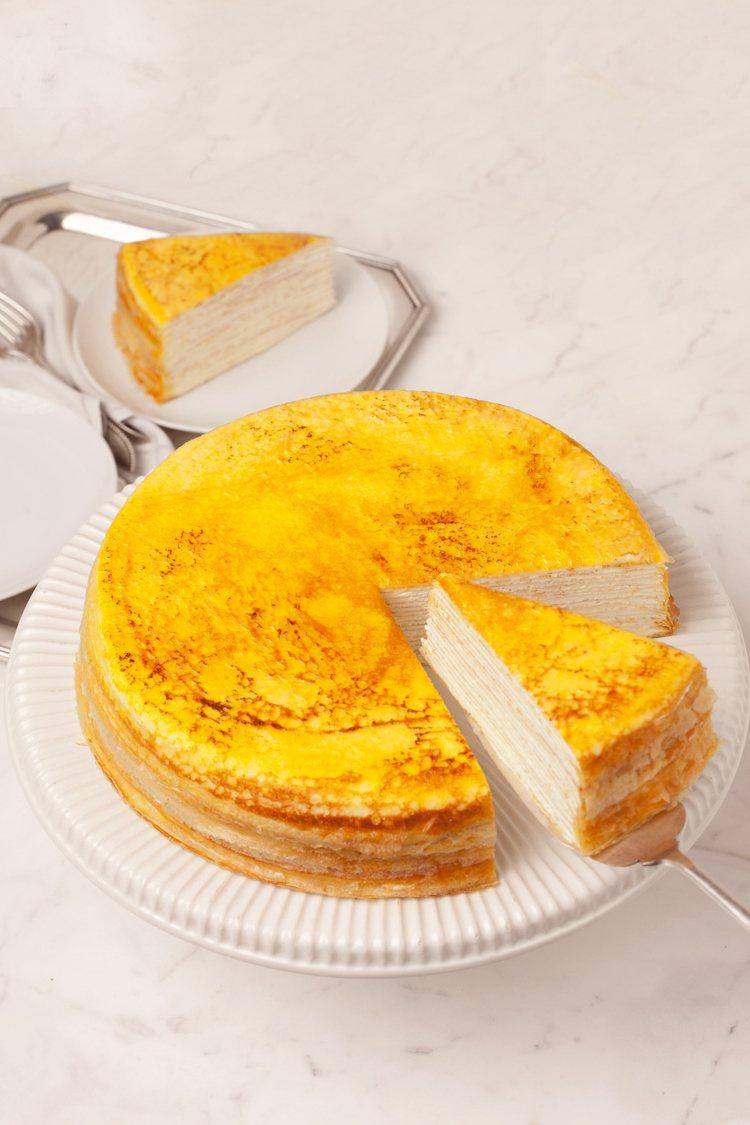 Lady M原味千層蛋糕,住客免排隊就可免費品賞。圖/台北晶華酒店提供