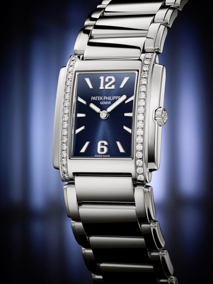 藍色表面、精鋼表殼的Twenty 4系列4910/1200A-001腕表,表殼並...