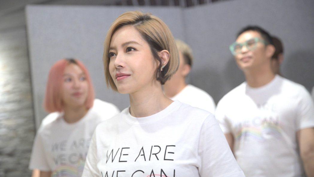 徐懷鈺為同婚一周年紀念歌曲獻唱。圖/We are,we can be提供