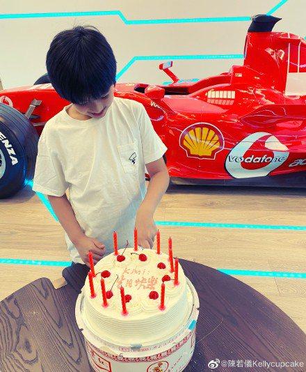 林志穎大兒子Kimi日前過生日。圖/摘自微博