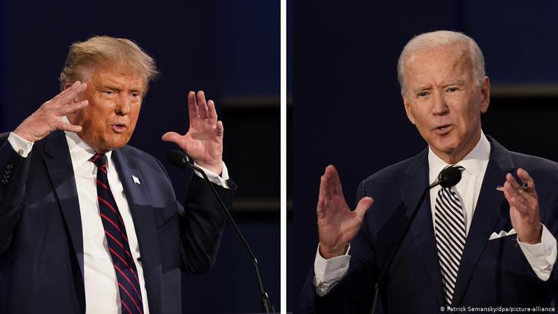 原定10月15日舉行的川普總統和民主黨挑戰者拜登之間的第二次電視辯論泡湯。圖/德國之聲中文網