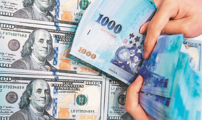 外資大賣股、台股指數下跌,新台幣匯率連三貶,今(15)日收盤貶值0.8分,收在28.96元,台北外匯經紀公司成交量10.57億美元。 聯合報系資料庫