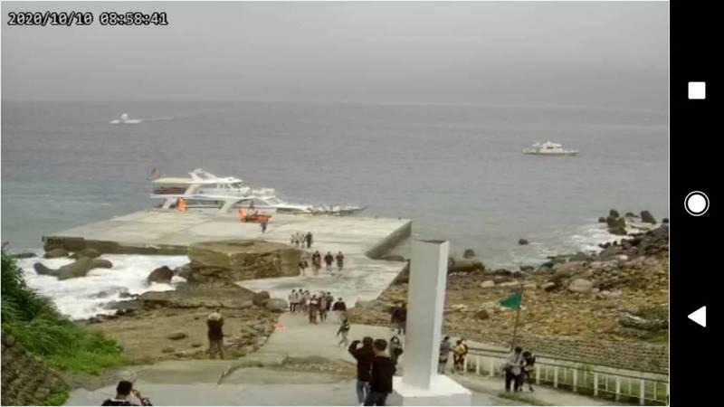 龜山島今重新開放南岸碼頭讓遊客登島。圖/東北角風管處提供