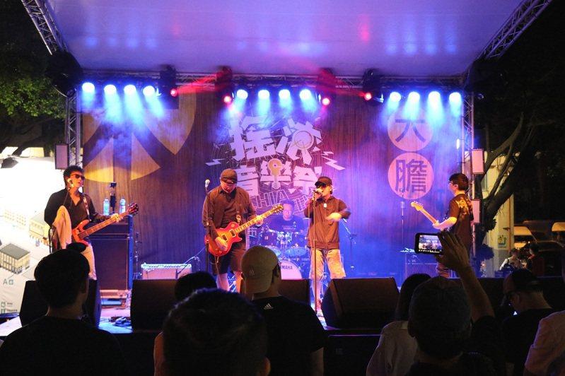 「2020嘉義市搖滾音樂祭」昨晚在嘉義文化創意產業園區開唱。圖/嘉義市政府提供