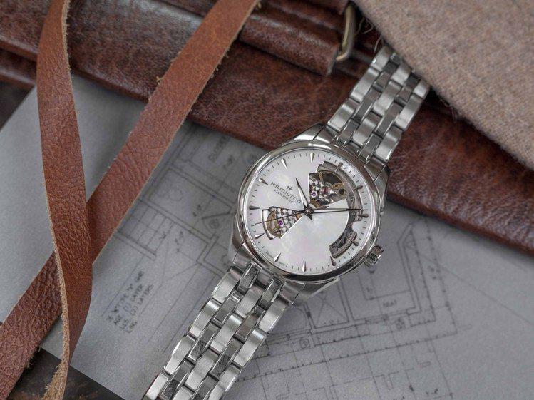 新款Hamilton Jazzmaster腕表36毫米的尺寸,完美符合女性的纖細...