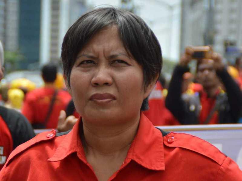 印尼本周一(5日)突襲式地立法通過有關勞動、環保及就業相關的「綜合法案」,惹毛了艾莉朵絲。圖/取自艾莉朵絲臉書
