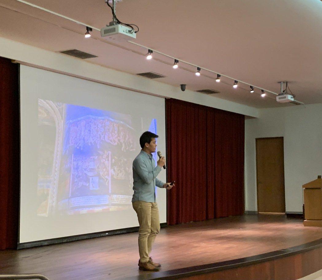 謝哲青日前赴金門大學演講。圖/亞洲旅遊台提供