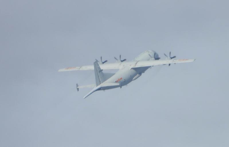 中共運8反潛機。圖/國防部提供